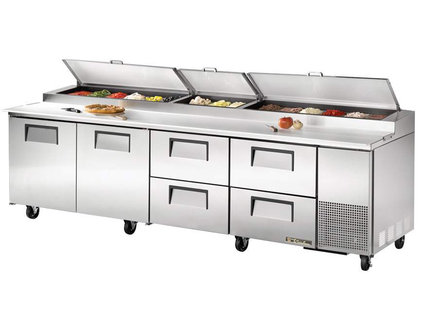 Truetppddoordrawerrefrigeratedpizzapreptable - True pizza prep table